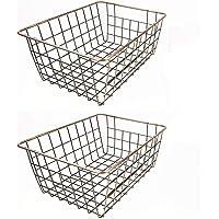 SINARDO Wire Storage Basket Organizer Bin Baskets Kithen Cabinets Freezer Bedroom Bathroom