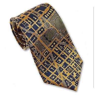 Josh Bach Mens CIVITAS Map of Washington DC Silk Necktie in Blue