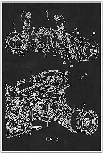 Amazon automotive suspension blueprint patent patent poster automotive suspension blueprint patent patent poster blueprint poster art gift malvernweather Gallery