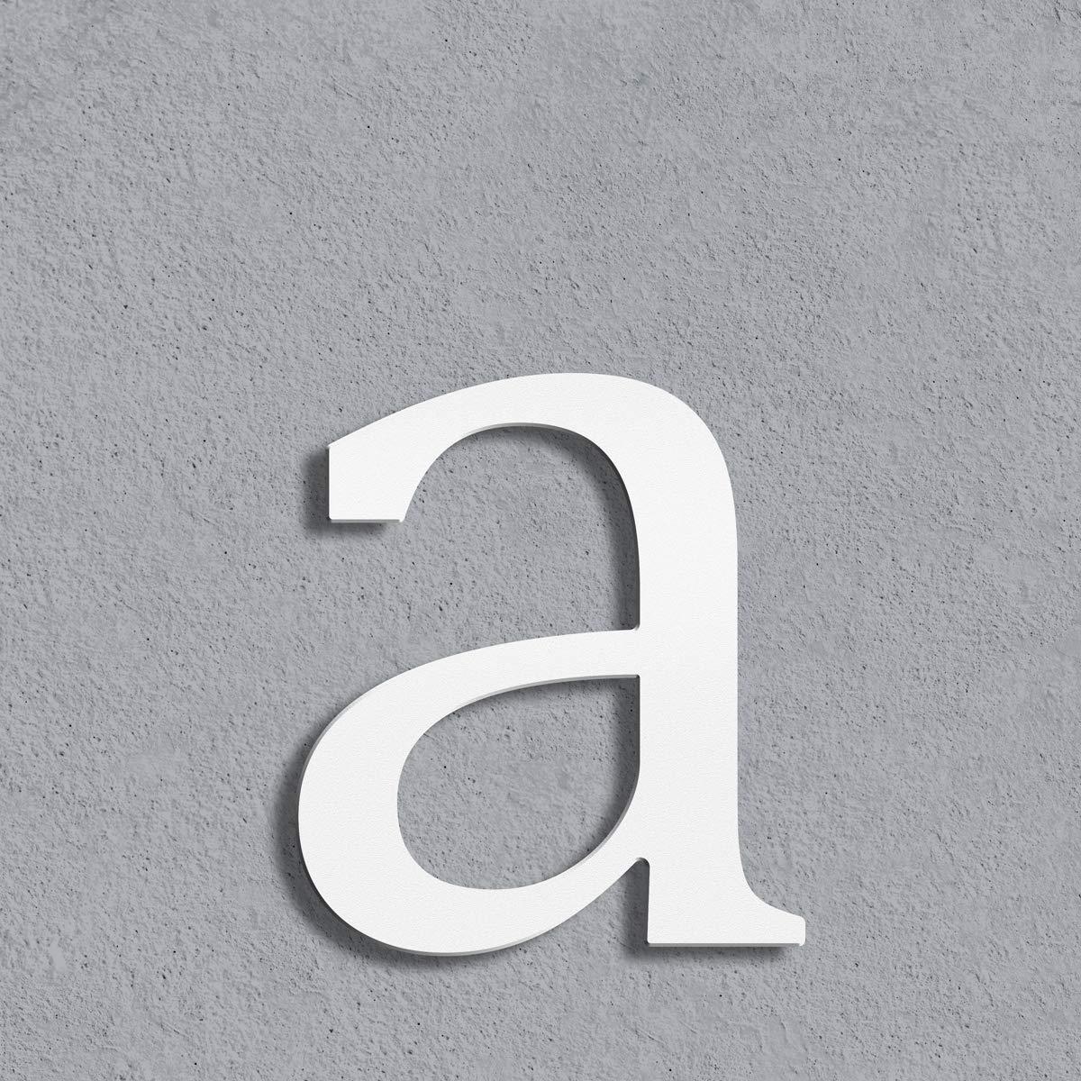 Thorwa/® moderne Design Edelstahl Hausnummer Cabaletta H: 200mm 3 wei/ß pulverbeschichtet RAL 9003