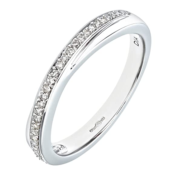 Naava 0.13 Carat I Diamond Pave Setting Eternity Ring in 9ct Gold hZaGp4Rx