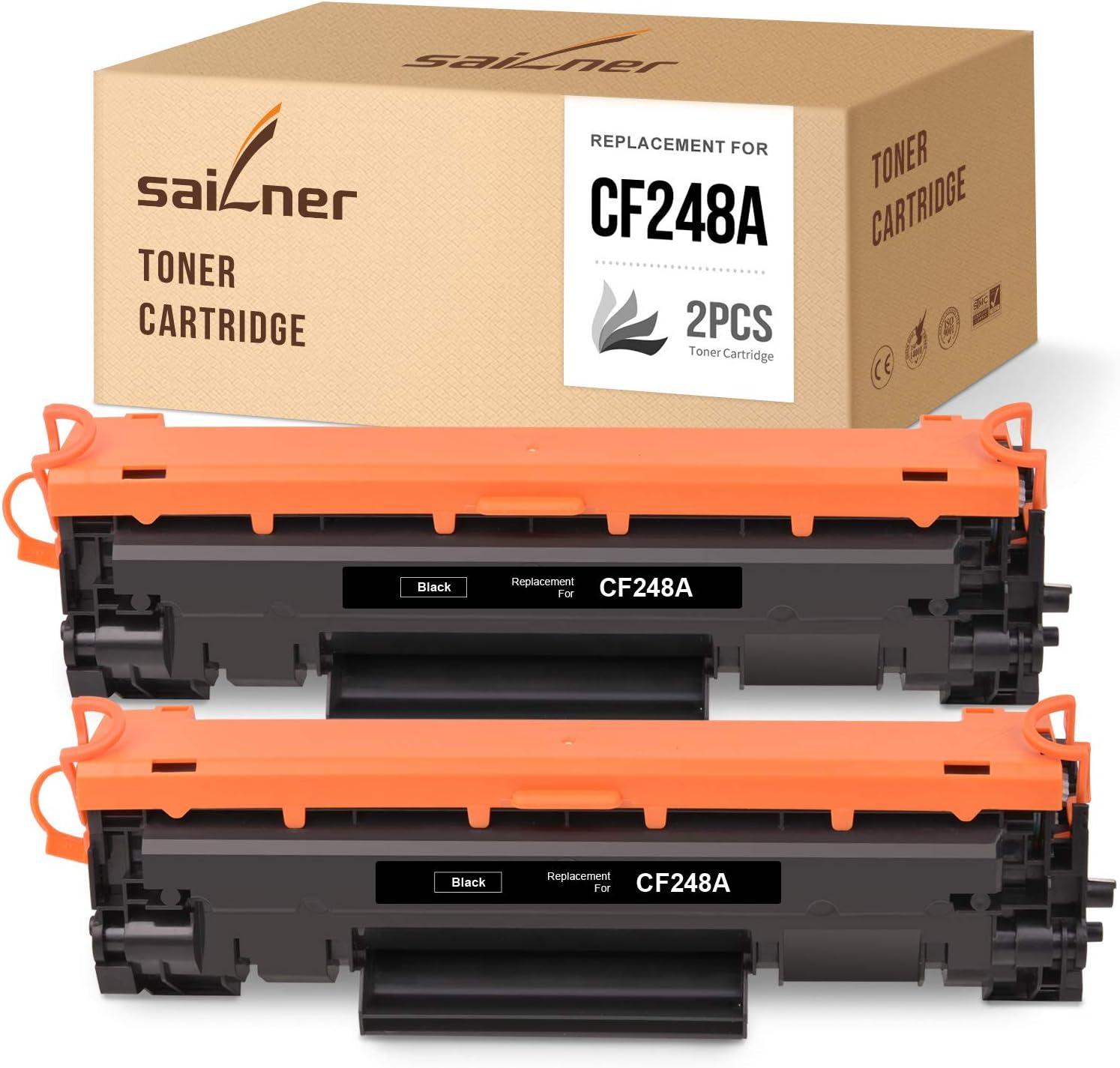 SAILNER Compatible Toner Cartridge Replacement for HP CF248A 48A use with Laserjet Pro M15w M15a M15 MFP M29w M29a M29 M28 M28w M28a (Black, 2 Pack)