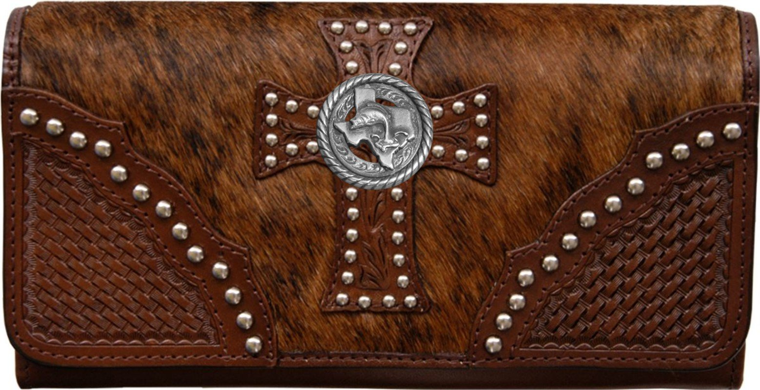 Custom Texas Bass Fishin Natural Hair Christian Clutch Wallet with removable checkbook