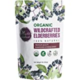 100% USDA Certified Organic Whole Dried Elderberries (Sambucus Nigra) | 1lb bag | Premium Quality | European Wildcrafted…