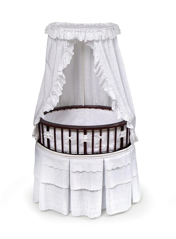 Amazon.com : Badger Basket Elite Oval Baby Bassinet, Cherry with ...