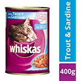 Whiskas Wet Cat Food, Trout & Sardine for Adult cats, 400 g