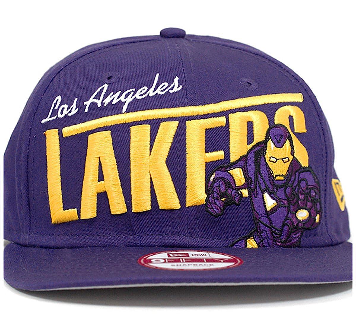 Amazon.com  YOUTH Los Angeles Lakers Iron Man Team Hero New Era NBA 9FIFTY  Snapback Cap Hat (Youth One Size 876b0e1177dd
