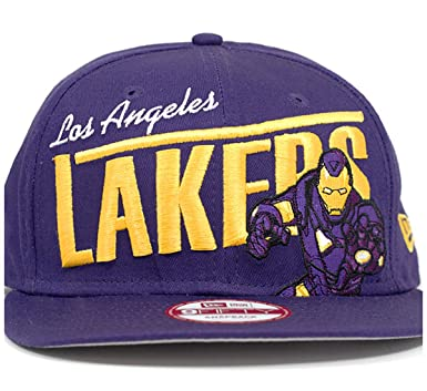 check out 0b20f 013ea YOUTH Los Angeles Lakers Iron Man Team Hero New Era NBA 9FIFTY Snapback Cap  Hat (