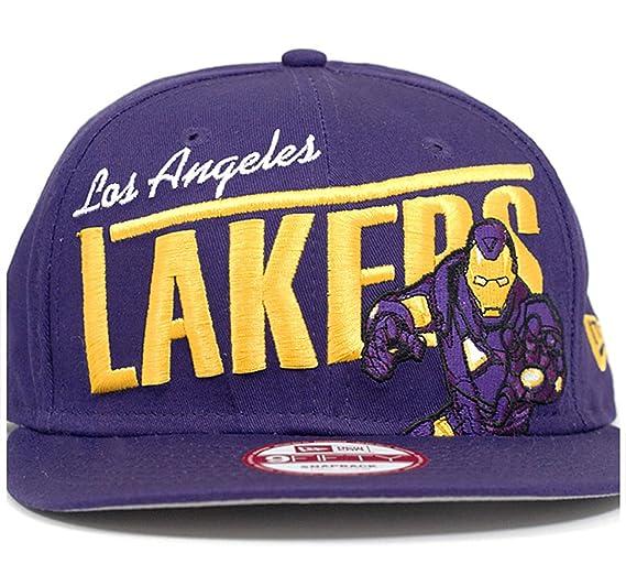 21b2700f3 Amazon.com: New Era Youth Los Angeles Lakers Iron Man Team Hero NBA ...