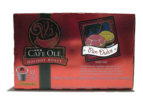 HEB Cafe Ole Holiday Roast - Cafetera con 12 cápsulas ...