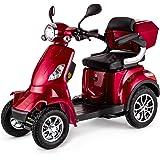 Reichweite bis zu 55 km 20 km//h Elektromobil f/ür Senioren mit 1000 Watt max Elektroroller LuXXon E4800 weinrot