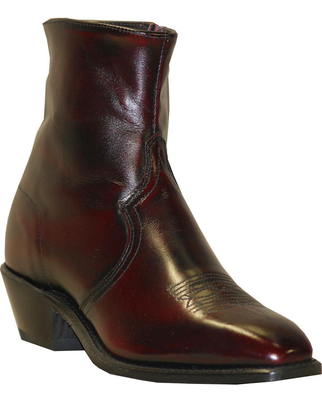Abilene Men's Boot Zipper Short Dress Black Cherry 10 EE US