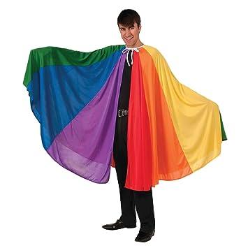 3858af7da93 Adult Rainbow Cape Cloak Gay Pride Parade Fancy Dress Party Carnival Joseph  Technicolour Dream Coat Accessory