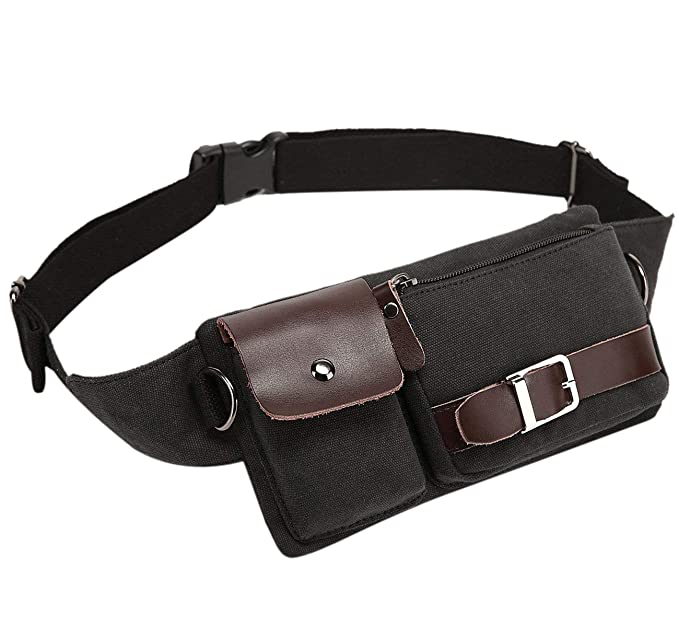 ea1e0171b058 Baosha YB-01 Vintage Men s Waist Bag Sports Waist Pack Bum Bag Security  Money Waist