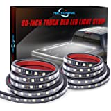 MICTUNING 2Pcs 60 Inch White LED Cargo Truck Bed Light Strip Lamp Waterproof Lighting Kit with On-Off Switch Fuse 2-Way…