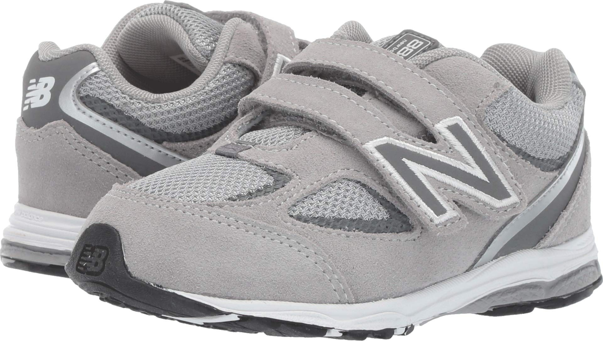 New Balance Boys' 888v2 Hook and Loop Running Shoe Grey, 7 W US Toddler