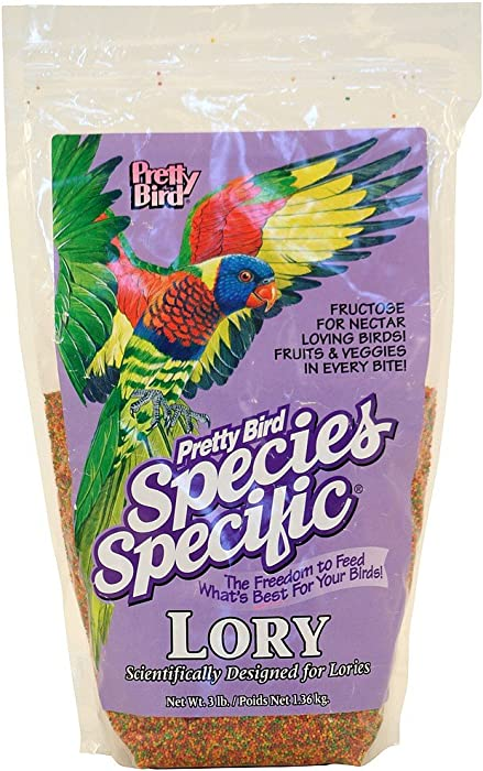 Pretty Bird International Bpb73315 Species Specific Special Lory Bird Food With Fructose, 3-Pound