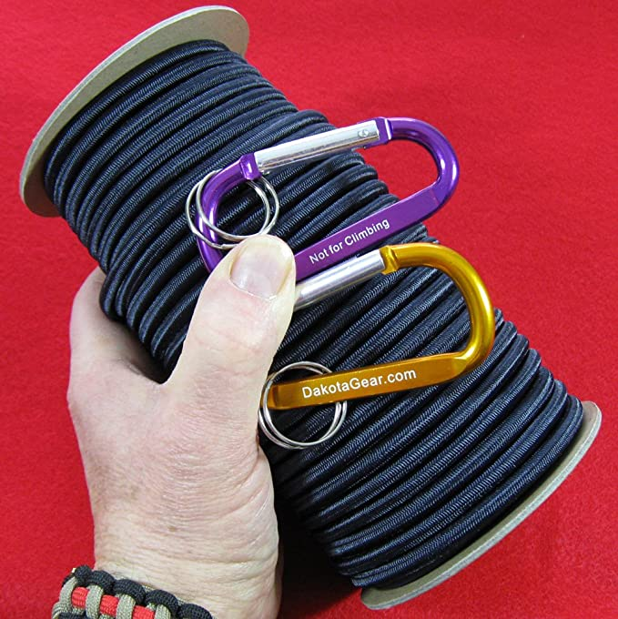 D DOLITY General Used Shock Cord Rope Elastic Cord for Boating Kayaking Hiking Camping Garden Backyard