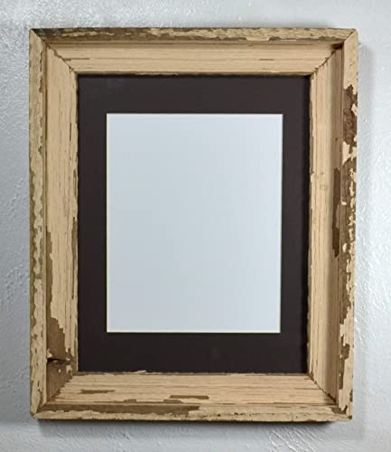 Amazoncom Shabby Chic Picture Frame 8x10 Charcoal Mat Recycled