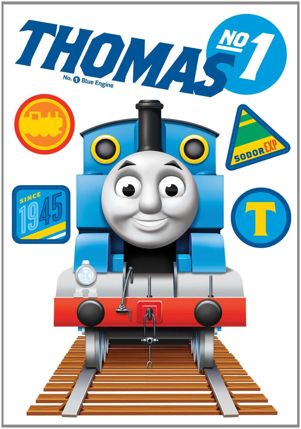 Thomas the tank engine wallpaper border - Decofun Thomas The Tank Engine Giant Wall Sticker Amazon Co Uk Kitchen Home