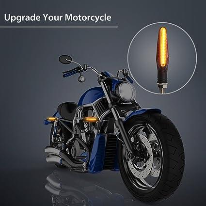 4pcs Motorrad Led Blinker Fließende Wasserdichte Anzeige Bernstein Licht Auto