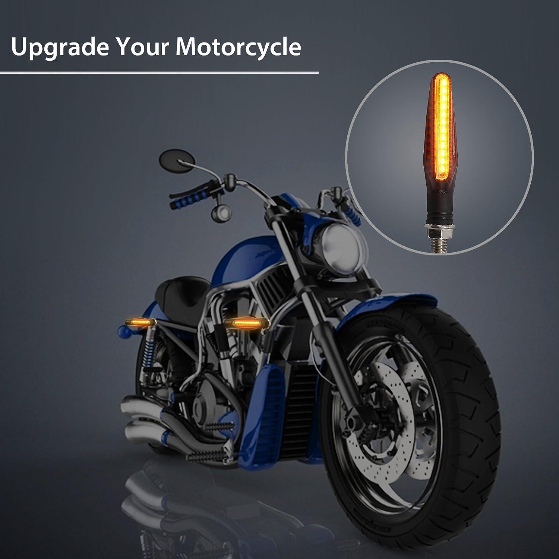 Justech 4PCS Indicadores de Motocicleta Luces Intermitentes Indicadores de Giro de Moto a Prueba de Agua 12V 12 LEDS Bombillas Luces de Se/ñal de Giro Universales
