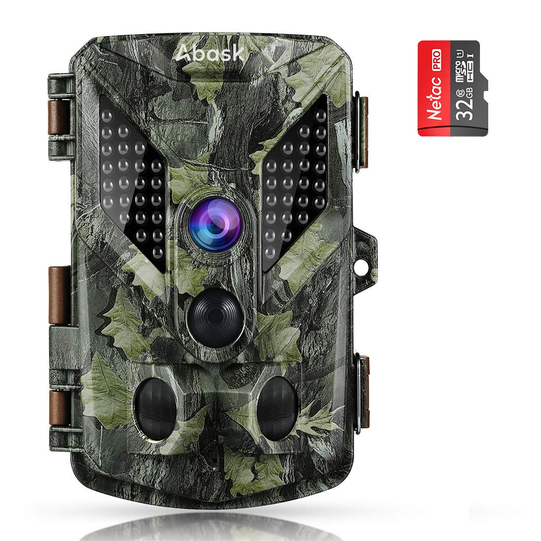 Abask Trail Cameras 16MP 1080P Full HD Hunting Camera With Night Vision Motion Activated, Game Camera 940nm 44 IR Leds Wildlife Trail Surveillance Cam 2.4'' LCD for Home, Property, Wildlife, Farm-Brown by ABASK