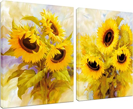 ORANGE AND YELLOW LILY FLOWERS ON CANVAS WALL ART PRINTS HOME DECO PICTURES