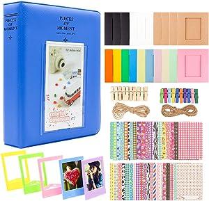 Ablus 2x3 Inch Photo Paper Film Album Set for Fujifilm Instax Mini Camera, Polaroid Snap, Z2300, SocialMatic Instant Cameras & Zip Instant Printer (64 Pockets, Cobalt Blue)