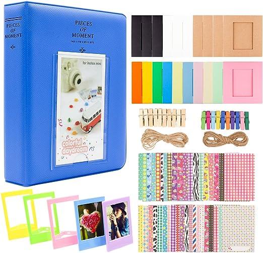 64 Pocket Album for Fujifilm Instax Mini Film-Cobalt Blue