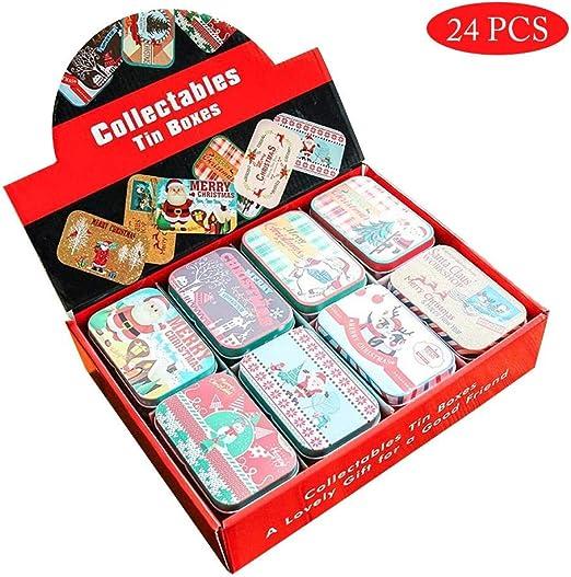 24PCS Latas De Galletas Caja De Dulces Caja De Regalo Caja Para ...