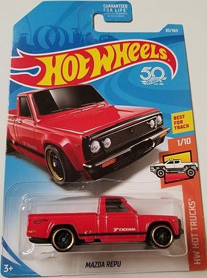 01aefd3c58 Amazon.com: Hot Wheels 2018 50th Anniversary HW Hot Trucks Mazda Repu 83/365,  Red: Toys & Games
