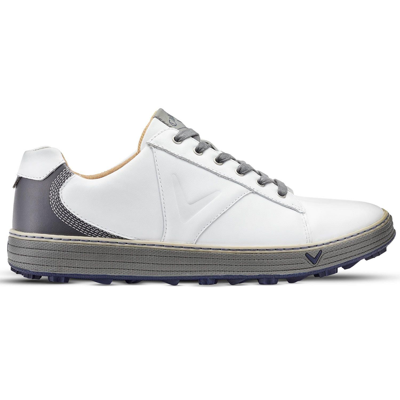 da85284a57d8 Callaway Golf Mens 2018 Delmar Retro Golf Shoes - White Charcoal - UK 9   Amazon.co.uk  Sports   Outdoors