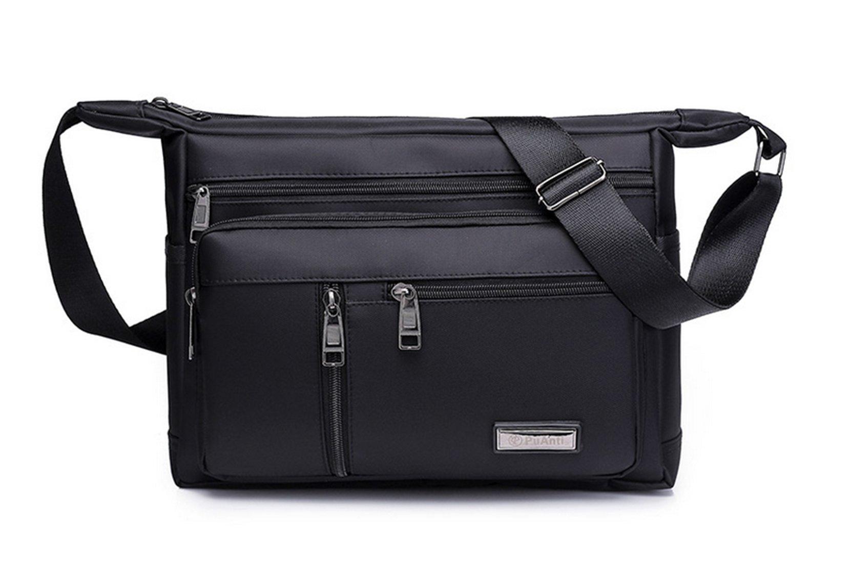 Nodykka Shoulder Crossbody Bag Mini Waterproof Nylon Messenger Backpack Purse Tote Satchel Handbags for Men Women