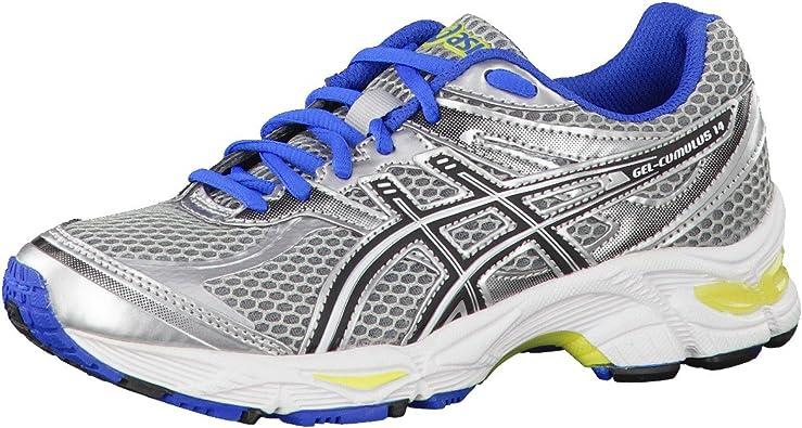 ASICS Gel-Cumulus 14 GS Zapatilla de Running Junior, Plata/Azul/Amarillo, 35: Amazon.es: Zapatos y complementos