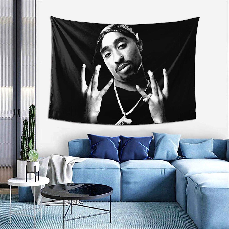 Rapper Tapestry Wall Hanging Art for Bedroom Living Room Dorm Decor 60x40 Inch