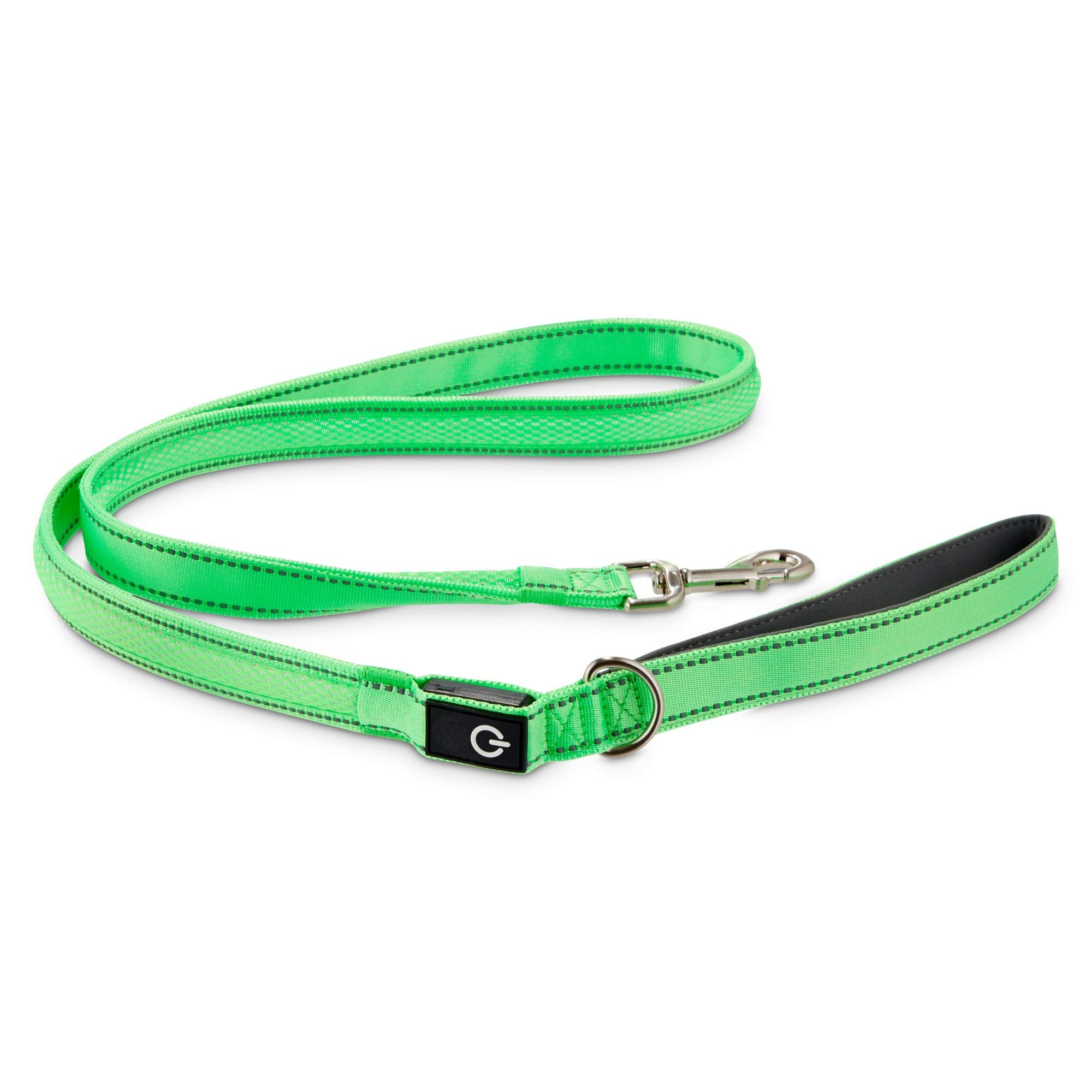 GOOD2GO Neon Green LED Light-Up Dog Leash, 5 ft. by GOOD2GO
