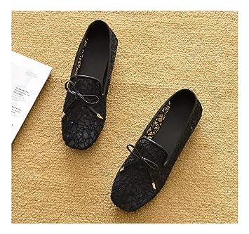 6c250542bad WULIFANG Joker Cómodas PU Señalar Superficial Piso Pea Zapatos Casual A Pie  39 Verde Militar: Amazon.es: Deportes y aire libre