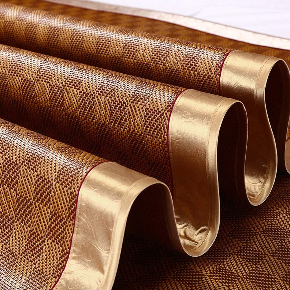5 Models Color : A, Size : 0.9x1.95m Home Textile CL* Carbonized Bamboo Sleeping mat,Summer Household Folding Double Skin-Friendly mats Rattan mat