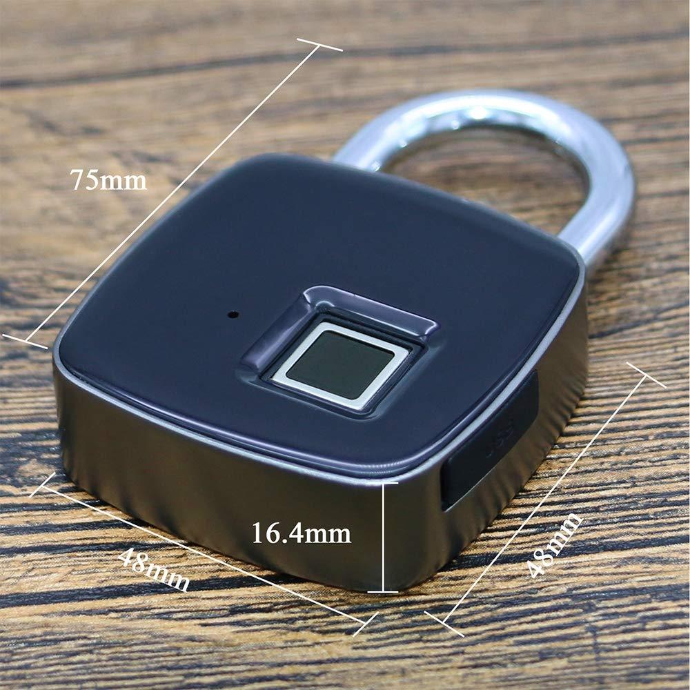 Anti-Theft Outdoor Fingerprint Padlock for Gep/äck Lagouse Waterproof SHENGY Keyless Smart Electronic Door Lock USB Charging Anti-Interferenz