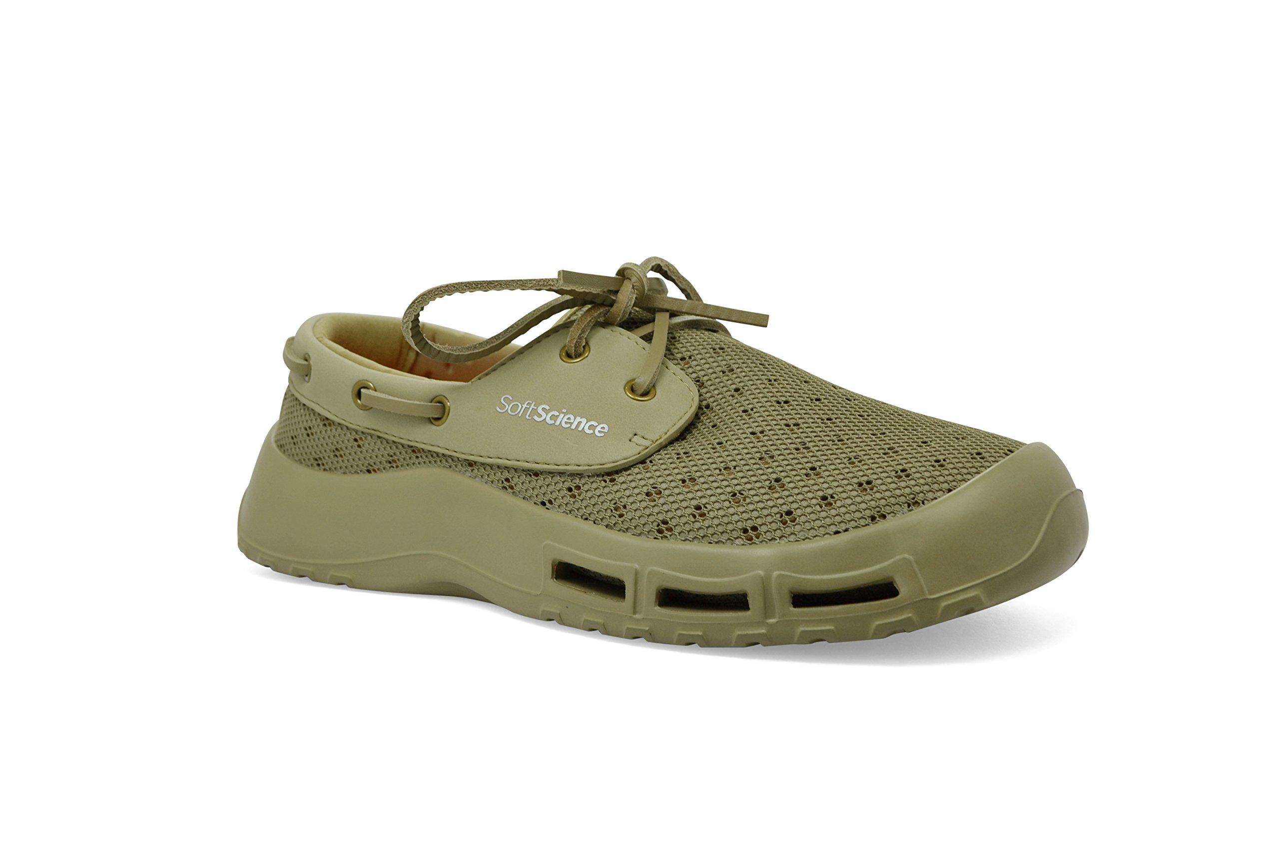 SoftScience The Fin Men's Boating/Fishing Shoes - Khaki, Size 16 by SoftScience