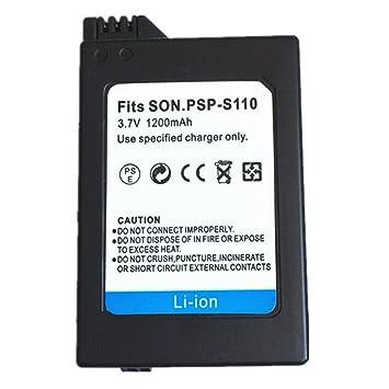 1 Piezas 1200 mAH PSP-S110 Batería PSP S110 Batería para Sony Playstation PSP2000 PSP2001 PSP2003 PSP2004 PSP3000 PSP3001 PSP3003 PSP3004 (1 pcs ...