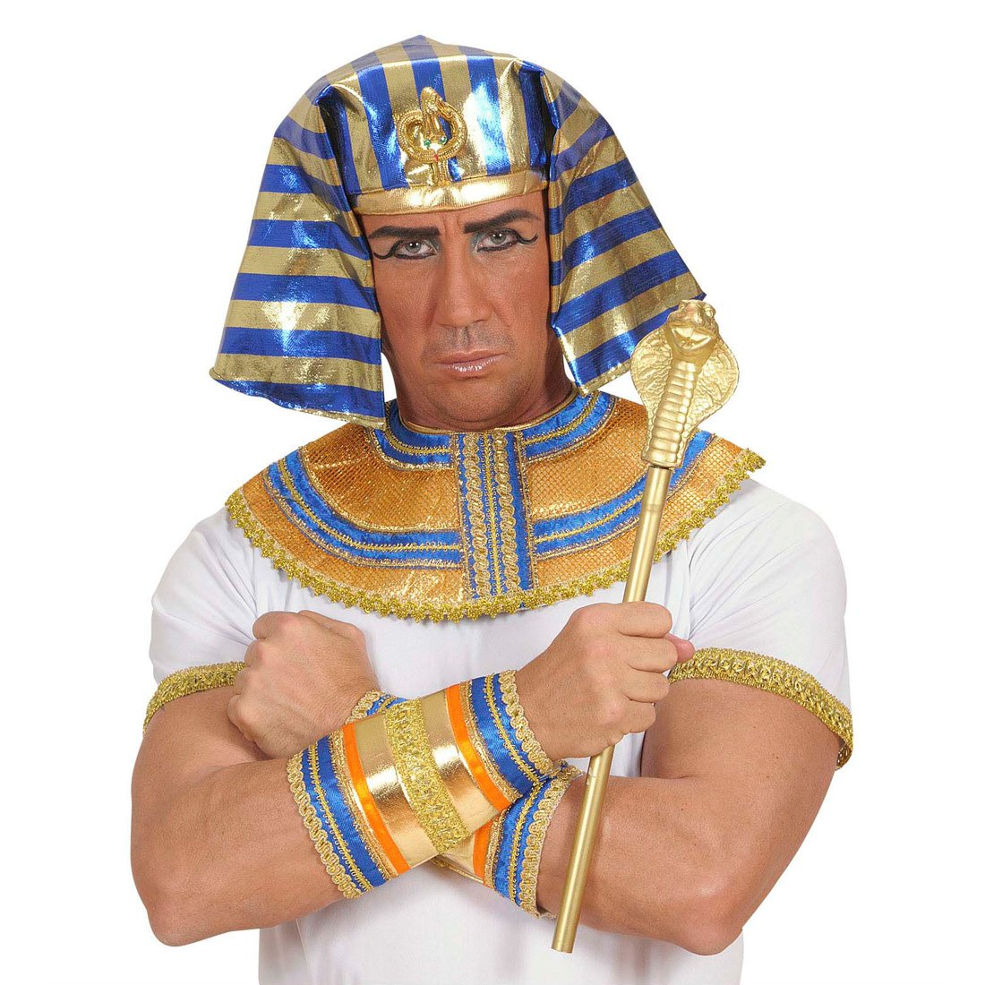 Scettro dorato da faraone re bastone simbolo dell'autorità del sovrano regina principe principessa costume - lunghezza 48 cm NET TOYS