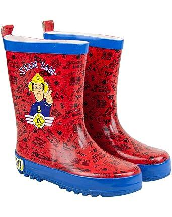 Sam el bombero Botas de agua Rojo  Amazon.es  Ropa y accesorios 7d545aec6c5c2