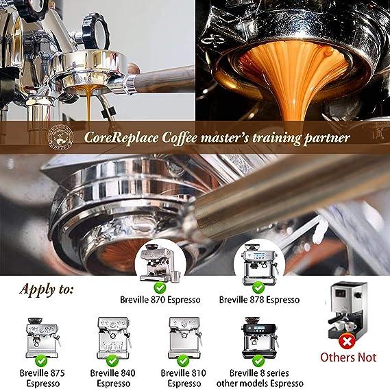 Edelstahl nackter Siebtr/äger f/ür Breville 870//875//878//880 mit Korbfilter 54 mm Bodenloser Siebtr/äger Espresso-Maschine