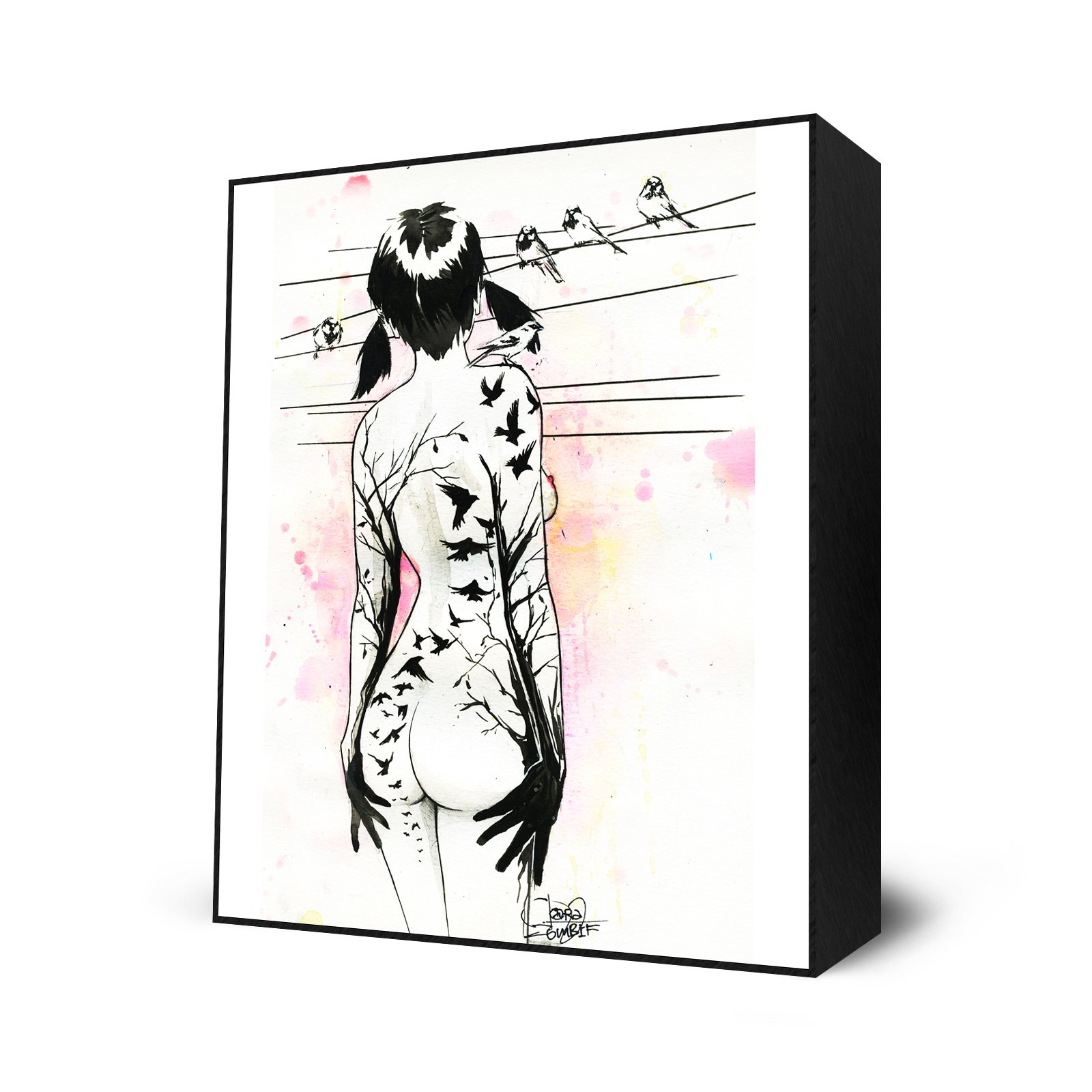 Tattoo Girl Mini Art Block by Eyes On Walls