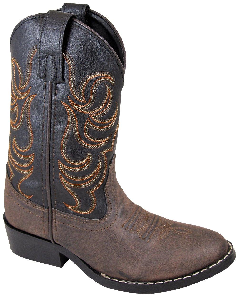 Smoky Child Boy Western Cowboy Boot, Brown, 12M