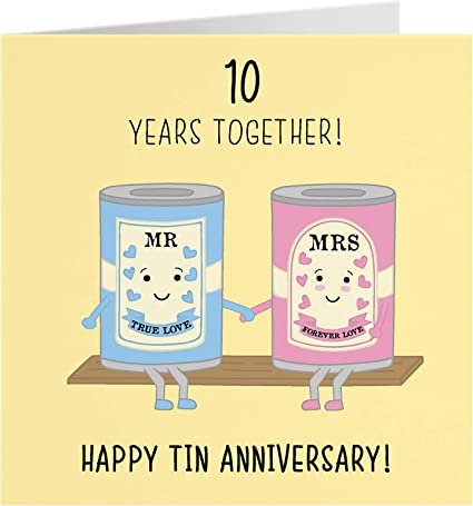 9th Wedding Anniversary Card - Tin Anniversary - Iconic Collection