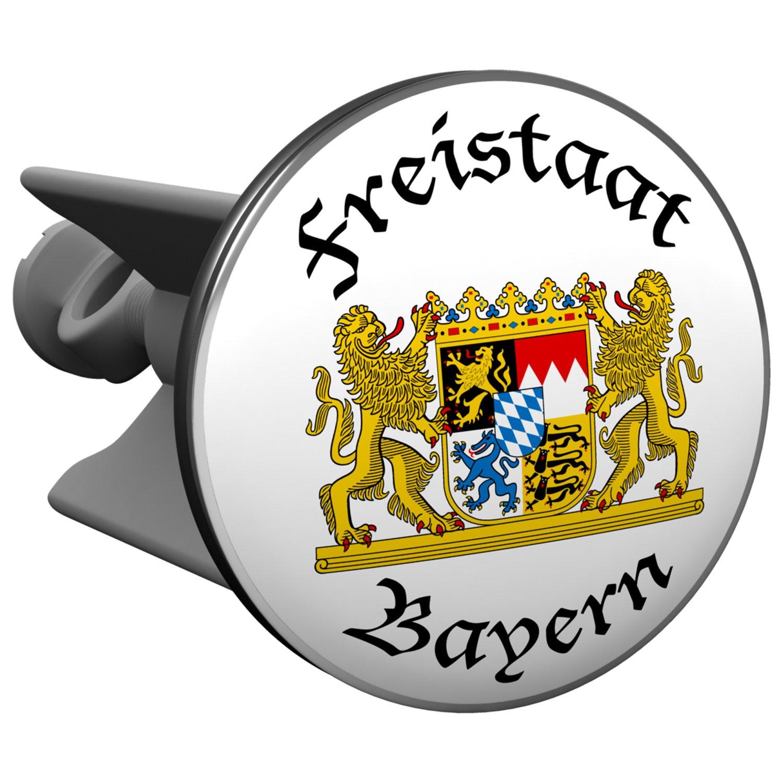 Waschtisch f/ür Waschbecken Plopp Waschbeckenst/öpsel Berliner Wappen Excenter Stopfen Abfluss St/öpsel