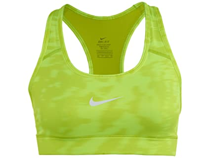 0b1d90a46d Nike Womens Victory Compression Stripe Sports Bra Volt White 643169-703  Size Large